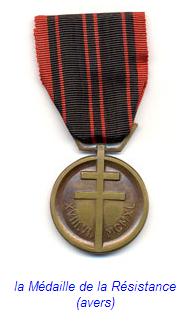 Médaille résistance Française