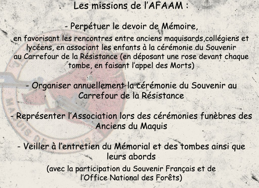 Missions AFAAM