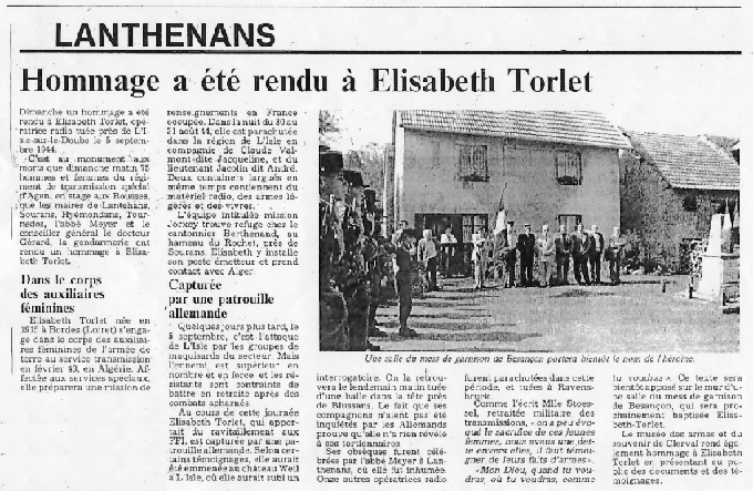 L'Est Républicain (Lanthenans) 2 juin 1992