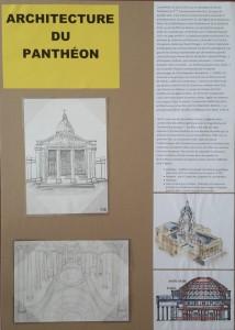 Panneau architecture Panthéon