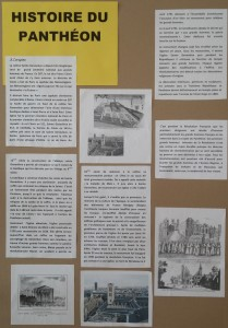 Panneau histoire Panthéon