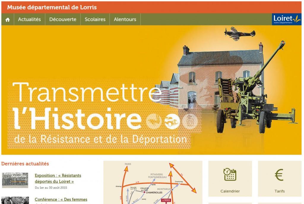 Page site musée lorris