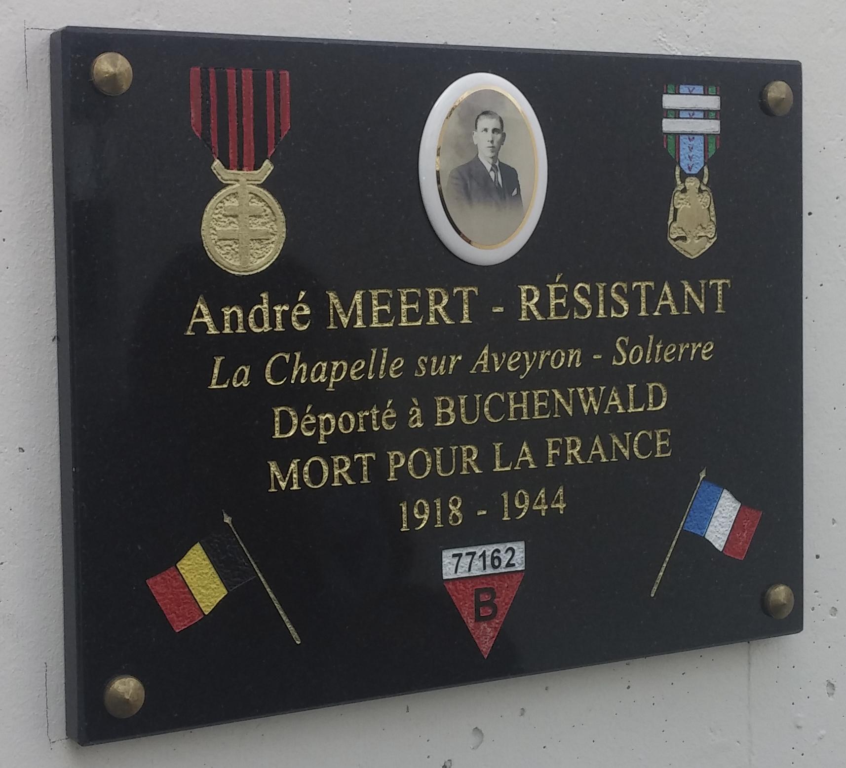 Plaque musée André Meert