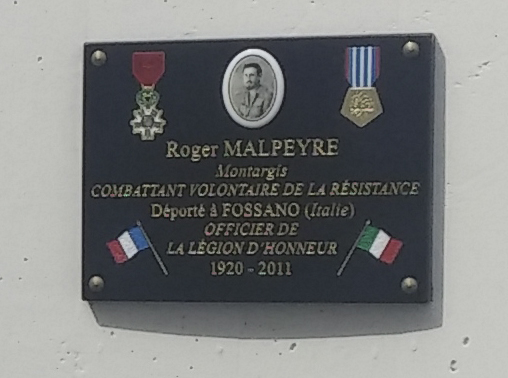 Plaque musée Roger Malpeyre